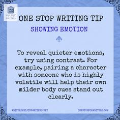 One stop for writers Emotion Tip http://www.onestopforwriters.com/