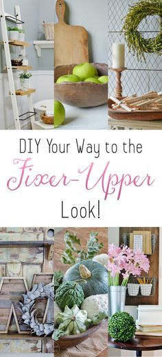 Cute home decor ideas! With these cool tips I can DIY My Way to the Fixer-Upper Look! DIY Your Way to the Fixer-Upper Look Farmhouse Design, Farmhouse Decor, Farmhouse Style, French Farmhouse, Farmhouse Ideas, Victorian Farmhouse, White Farmhouse, Fixer Upper, Country Decor