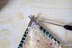 Perlen stricken Häkelnadel