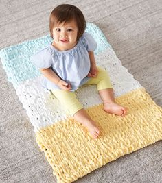 How To Make a Lion Brand Off The Hook Dexter Baby Blankie