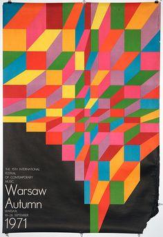 """Warsaw Autumn 1971, Hubert Hilscher, 26""""x38"""""""