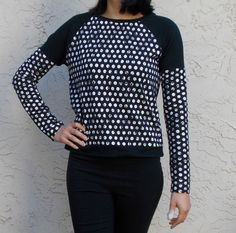 FREE SEWING PATTERN: LONG SLEEVE RAGLAN TOP - On The Cutting Floor