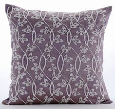 Silk 12x12 inch Sofa Throw Pillow Luxury Purple Purple Trance Lattice