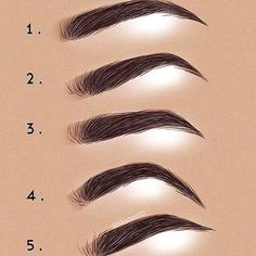 is your eyebrow shape?,What is your eyebrow shape?, Drawing different eyebrows, Good Eyebrow Makeup Tweezing Eyebrows, Thick Eyebrows, Threading Eyebrows, Microblading Eyebrows, Perfect Eyebrows, How To Shape Eyebrows, Make Eyebrows Grow, Types Of Eyebrows, Arched Eyebrows