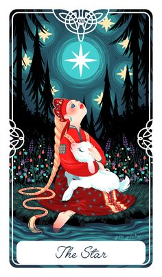 OMG IT'S THE VERY LAST MAJOR CARD This is the Star Card for my FairyTaleTarot As always, if you're interested in this deck, sign up here to get emailed updates about crowd funding...