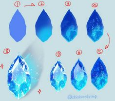 Digital Painting Tutorials, Digital Art Tutorial, Art Tutorials, Digital Paintings, Drawing Base, Drawing Tips, Gem Drawing, Art Sketches, Art Drawings