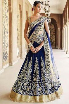 Royal Blue Colour Nylon Net Fabric Party Wear Lehenga Choli Comes with matching blouse. This Lehenga Choli Is crafted with Embroidery,Lace Work This Lehenga Choli Comes with Unstitched Blouse Which Ca. Lehenga Choli Designs, Ghagra Choli, Lehenga Choli Online, Bridal Lehenga Choli, Wedding Sarees, Lehenga Indien, Lehenga Style Saree, Bollywood Lehenga, Party Wear Lehenga