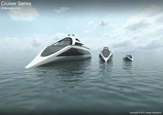 This Cruiser Series by Phil Pauley has Something for Everyone's Taste #yachts trendhunter.com
