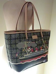 Kate Spade PEBBLED Ace of Spades Medium Boat Nautical SHIP Harmony Tote Bag | eBay