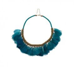 Green Multi Tone Feather and Rope Necklace | Necklaces Online | Lovisa