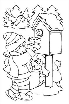 Winter Coloring Pages for children Coloring Pages Winter, Coloring Sheets For Kids, Christmas Coloring Pages, Colouring Pages, Coloring Pages For Kids, Coloring Books, Bible School Crafts, Winter Crafts For Kids, Christmas Templates