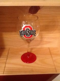 Ohio State Hand Painted Wine Glass by brandiedmonds on Etsy, $20.00