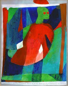 """Ein Schutzengel von 2006, also aus einer Zeit in der sich meine Mutter, Sisi Bolliger,  und ich sich gegenseitig zum Geburtstag eine eigene Zeichnung schenkten. Ich stand damals unter einer Art  """"Erwartungsdruck"""" welcher 2010, mit dem Tod meiner Mutter weggefallen ist... Painting, Guardian Angels, Remember This, Death, Printing, Birthday, Drawing S, Painting Art, Paintings"""