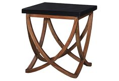 Kate End Table, Black on OneKingsLane.com by steven shell $219
