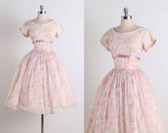 Loomis Chaffee . vintage 1950s dress . by millstreetvintage