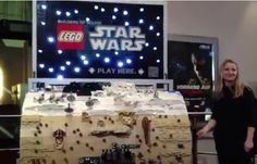 To promote the 3D version of Star Wars: Episode One -The Phantom Menace, a barrel made of 20,000 Lego pieces was built and showcased around German theatres to highlight the Lego Star Wars brand.