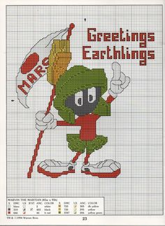 Needlepoint Patterns, Counted Cross Stitch Patterns, Cross Stitch Designs, Cross Stitch Embroidery, Embroidery Patterns, Looney Tunes, Stitch Character, Stitch Cartoon, Mini Cross Stitch
