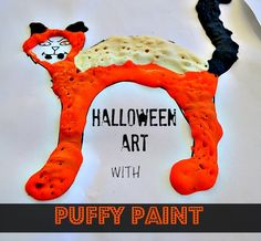 Puffy Paint Halloween Art (from Blog Me Mom)