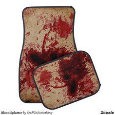 Blood Splatter Car Floor Mat