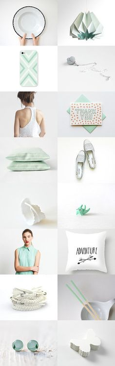 mint and white summer trends :: treasury by Barbara on Summer Trends, Gift Guide, Mint, Cool Stuff, Inspiration, Etsy, Biblical Inspiration, Inspirational, Inhalation
