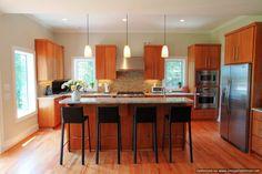Kitchen - Custom Cabinetry #stainless #hardwoodflooring #openlayout