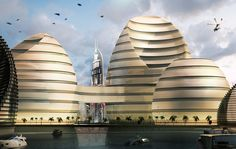 luca curci architects sculpts organic cities project in the UAE #architecture ☮k☮
