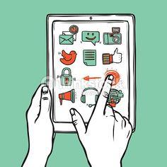 Vector Art : Social Media Tablet