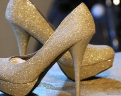 Revamp a pair of shoes with glitter spray paint