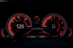 BMW 7 2016 new cluster Sports mode
