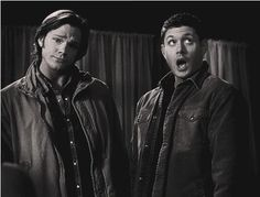 supernatural ~ sam and dean's facial expressions.Sam's face gets me everytime.he' s judging you.Ohhh no gurl you did not! Jensen Ackles, Jared And Jensen, Sam And Dean Winchester, Winchester Brothers, Jared Padalecki, Supernatural Tv Show, Supernatural Seasons, Misha Collins, Superwholock