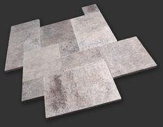 Silver Travertine has gray and tan color mixture Travertine, Dallas, Deck, Contemporary, Gray, Silver, Color, Home Decor, Decoration Home