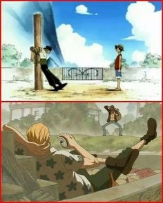Captain and First mate  Zoro = Rayleigh Gol D Roger = Monkey D Luffy