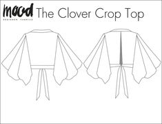 The Clover Crop Top - Free Sewing Pattern - Mood Sewciety - Dress sewing patterns - Diy Crop Top, Crop Tops, Crop Top Pattern, Pants Pattern, Sew Pattern, Plus Size Sewing Patterns, Pdf Patterns, Mood Fabrics, Fashion Sewing