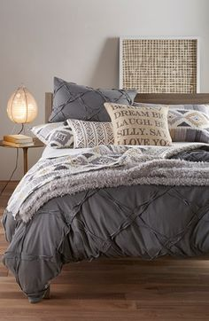 Getting out of bed, as if the struggle wasn't already real, this Nordstrom at Home 'Trellis' duvet cover is everything!