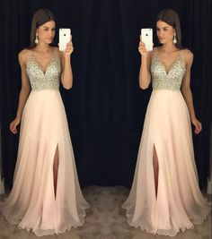 Sexy Prom Dresses,Beading Prom dresses,V-neck Prom Gown, Sexy Evening Dresses,Girls Party Dresses, Prom Dress