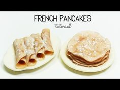 polymer clay French Pancakes / Crepes TUTORIAL - YouTube