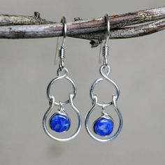 Sway Lapis Lazuli and Sterling Silver by CammieLaneJewelry on Etsy