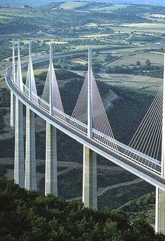 Millau Viaduct, highest bridge in the world,