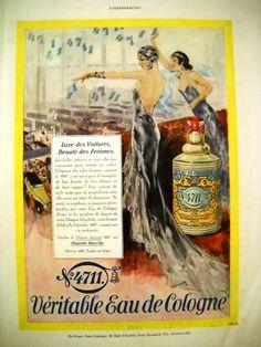 Eau de Cologne 4711, Vintage advertisement on L'Illustration, 1930
