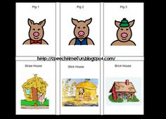 Three Little Pigs - sequencing cards.