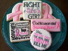 Breast Cancer Awareness cookies from #sweet-t-cakes