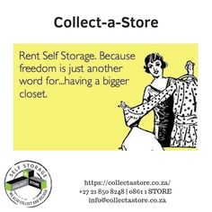 Convenient, safe and easily accessible self storage units at Collect a Store Somerset West, Self Storage Units, Big Words, The Unit, Store, Collection, Great Words, Tent, Shop Local