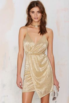 Nasty Gal Luxe Be a Lady Gold Lamé Dress | Shop Clothes at Nasty Gal!