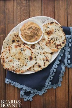 Cumin & Black Sesame Naan #glutenfree #vegan {Beard and Bonnet}
