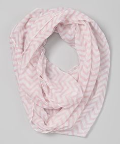 Look what I found on #zulily! Bubbly Bows Light Pink Zigzag Infinity Scarf by  #zulilyfinds
