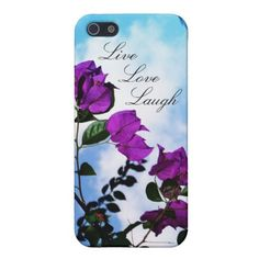 Purple Roses Personalized iPhone Case
