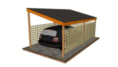 Wooden Carport Plans Free - To add a space on the bungalow garage