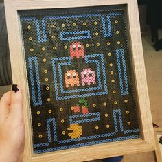 Framed PacMan hama beads by from embevv