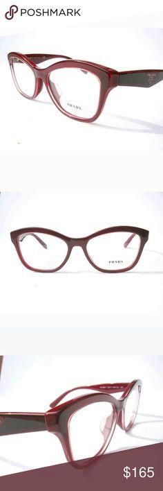 e98d5f96da8 Shop Women s Prada size Glasses at a discounted price at Poshmark.  Description  New Prada Eyeglasses Burgundy frame Size Includes Chanel case.