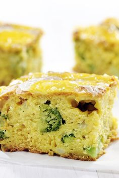 Broccoli Cheddar Cornbread Recipe
